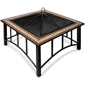 pozo de fuego exclusivo con decoracion de mosaico