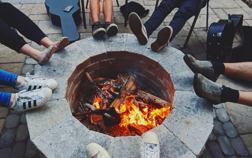 pozo de fuego para jardin y hoguera de exterior