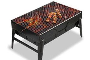 Parrilla de mesa a carbón