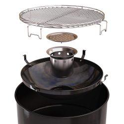 Barril Barbecook Barrel Edson black, accesorios y caracteristicas de montaje