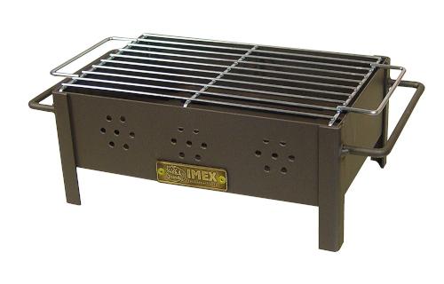 mini parrilla de sobremesa cincada a carbón, negro, 31x21x14